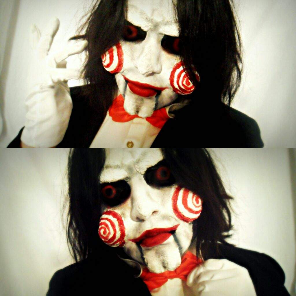 halloween makeup billy the puppet cosplay amino