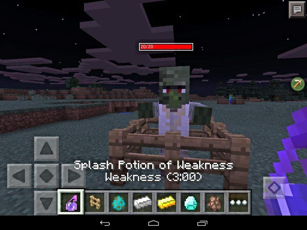 how to make a villager follow you in minecraft pe