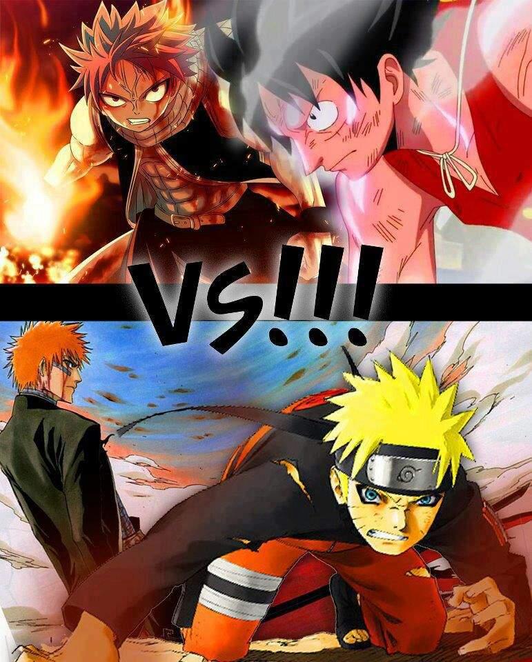 Tag Team Fight: Ichigo & Naruto 🆚 Luffy & Natsu