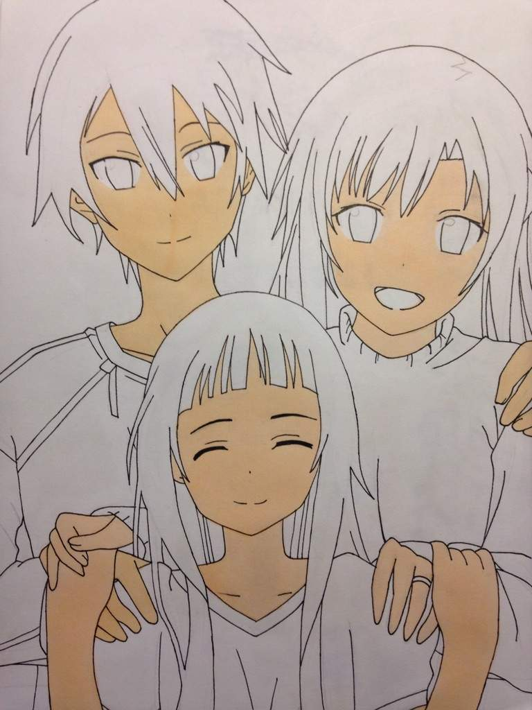 Always start with coloring the skin i noticed that kirito and asuna