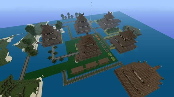 i am working on filling my entire map woth the japanese feel starting with these six great japanese houses i built