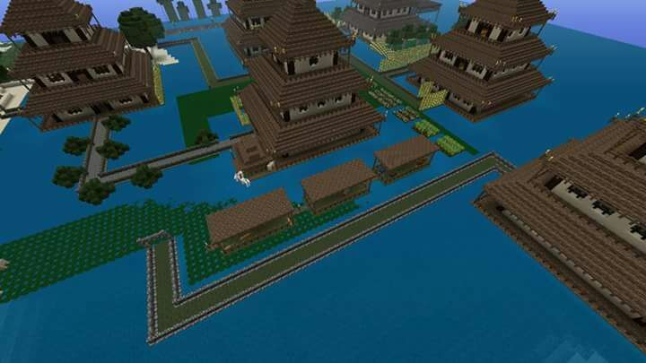 i am working on filling my entire map woth the japanese feel starting with these six great japanese houses i built - Minecraft Japanese Village