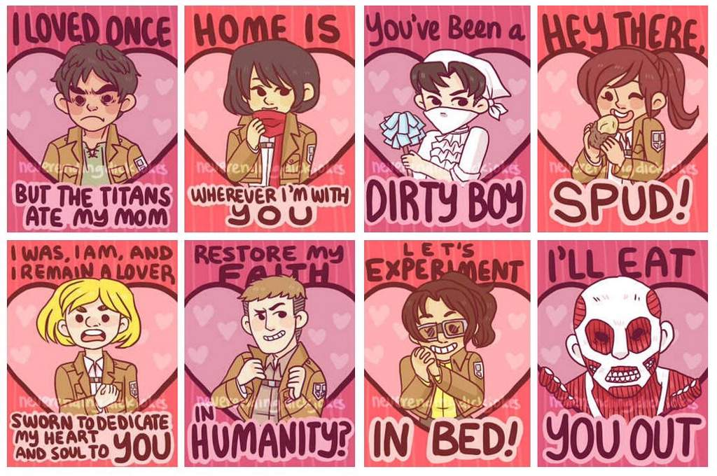 Aot valentine cards – Anime Valentines Day Card