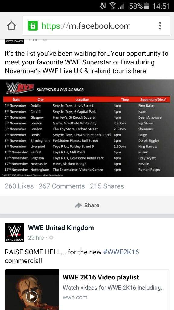 Uk wwe fans meet and greet dates wrestling amino m4hsunfo