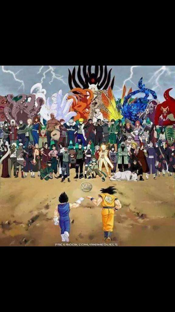 Goku & Vegeta V.S The Naruto Universe | Anime Amino