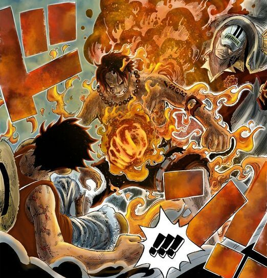 Ace And Luffy Fighting Against Marine Officers: Garp's Choice? Duty Or Family
