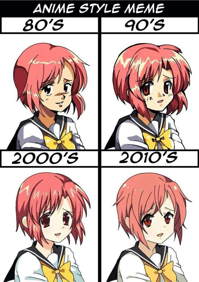 Anime Characters In Their 30s : The style of anime how it has changed amino