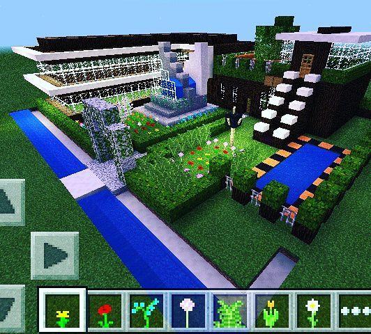 desain rumah modern 1 buatan saya. | Minecraft Amino