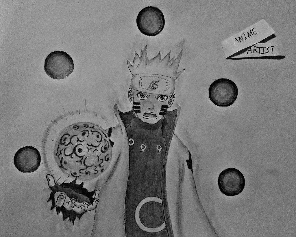 how to draw naruto sage of six paths mode
