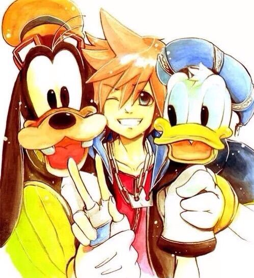 Goofy And Donald Anime Version: Japanese Games: Kingdom Hearts Part 2