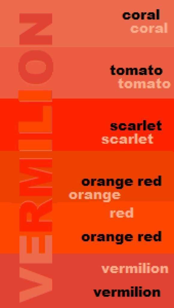 Shades Of Orange Names art contest: the vermilion contest 🎉 | anime amino