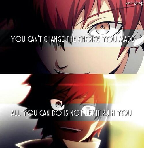Assassination Classroom Quotes: Karma Akabane