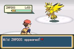 how to catch a zapdos in fire red