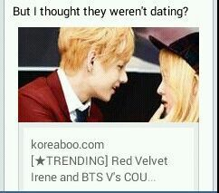 Taehyung and irene dating simulator