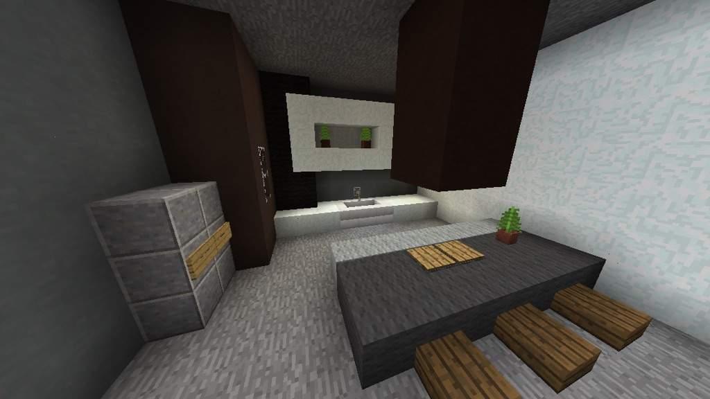 Modern Kitchen Minecraft modern kitchen design | minecraft amino