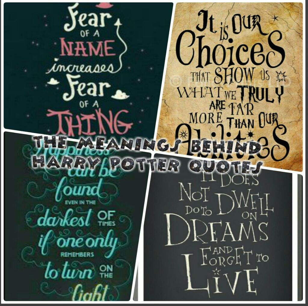 The meanings behind harry potter quotes | Harry Potter Amino