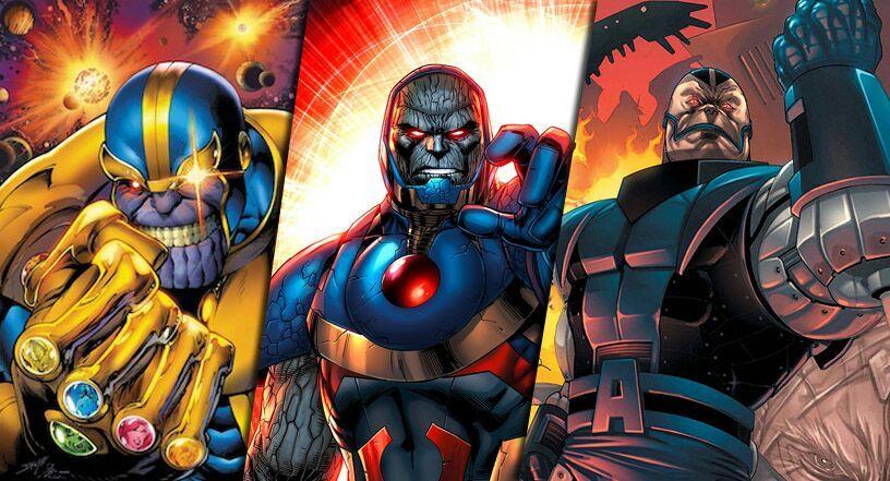 Jl Avengers Vs Thanos Darkseid Apocalypse Dr Doom
