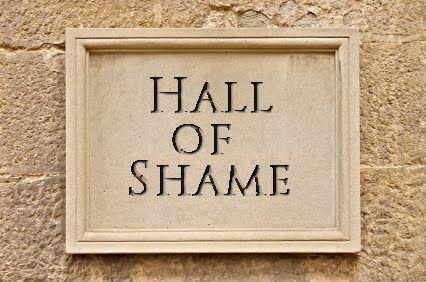 Image result for hall of shame