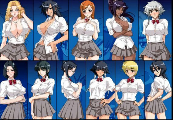 nude girl character in bleach