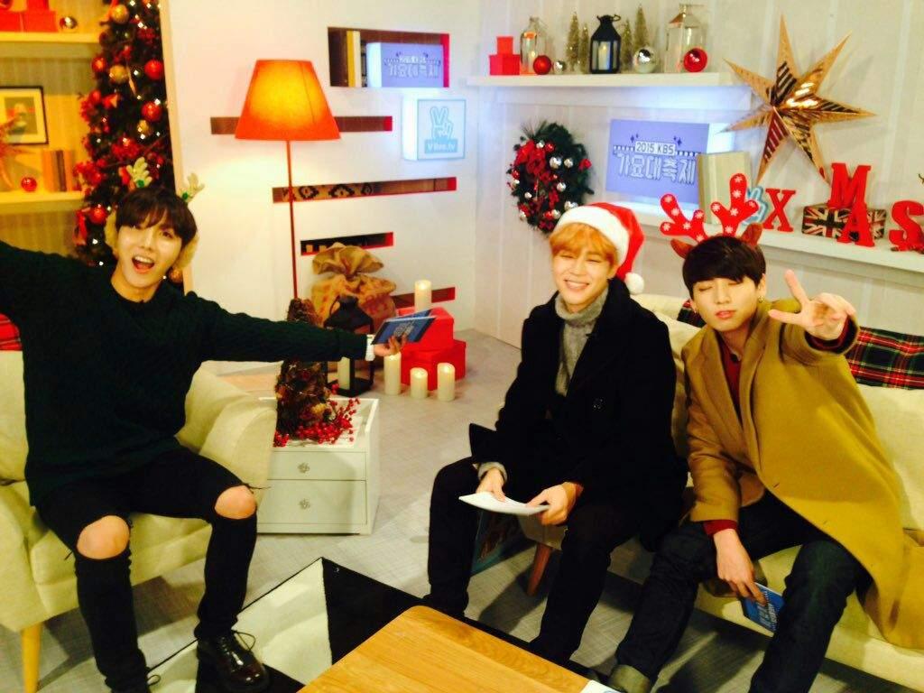 24/12/2015] JHope, Jimin and JungKook at kbsmusic2015 | K