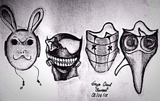 Tokyo Ghoul Masks Anime Amino