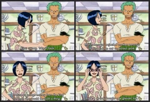 zoro and tashigi meet