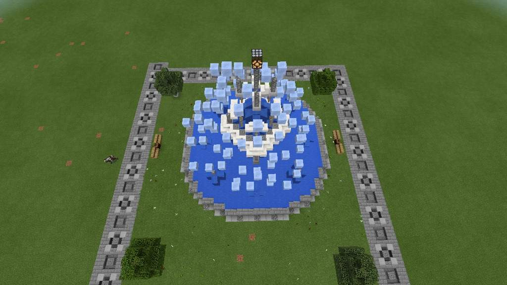 minecraft how to make a fountain