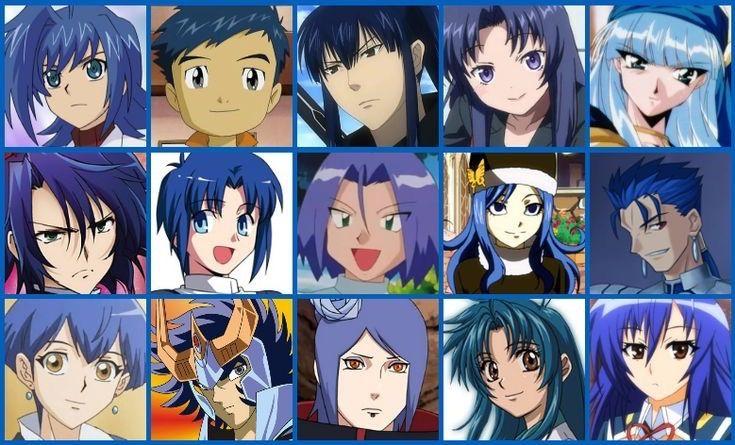 Цвет волос в аниме