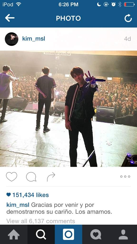 Myungsoo Instagram Post In Spanish???