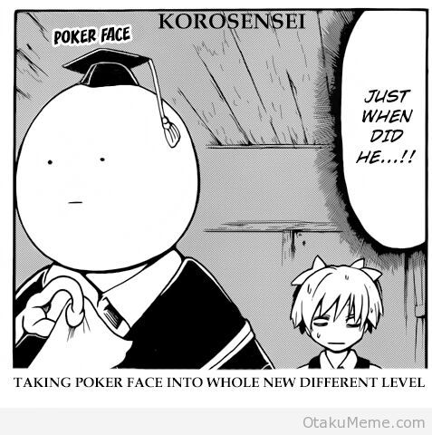 Poker Face Meme Anime Amino