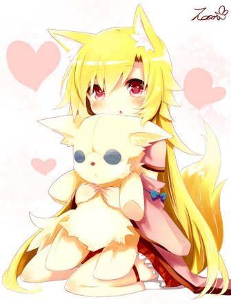 golden fire fox girl anime amino
