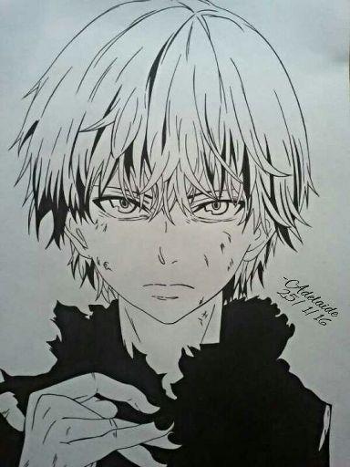 Drawing Kaneki Ken Tokyo Ghoul Ink Art Anime Amino