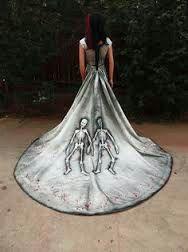 Zombie Skull Wedding Dresses Wicked
