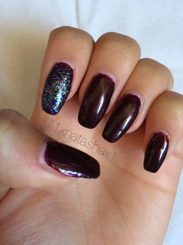 Dark purple acrylic nails   Nail Art Amino