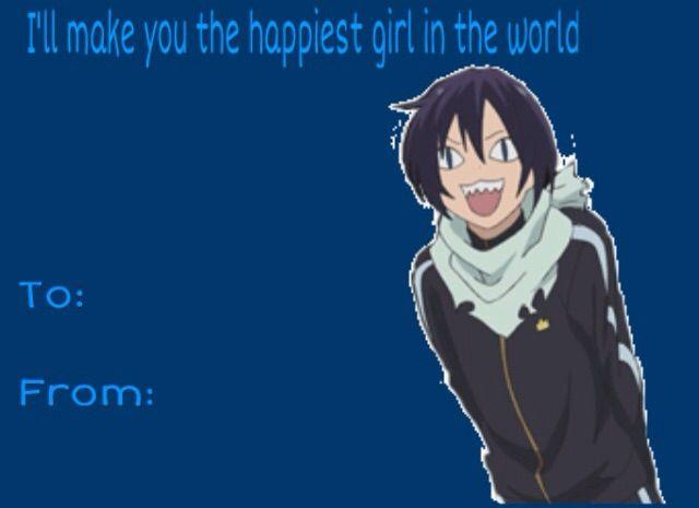 Noragami Valentines – Anime Valentines Day Card