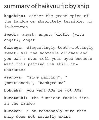 Underrated Haikyuu Ships Anime Amino