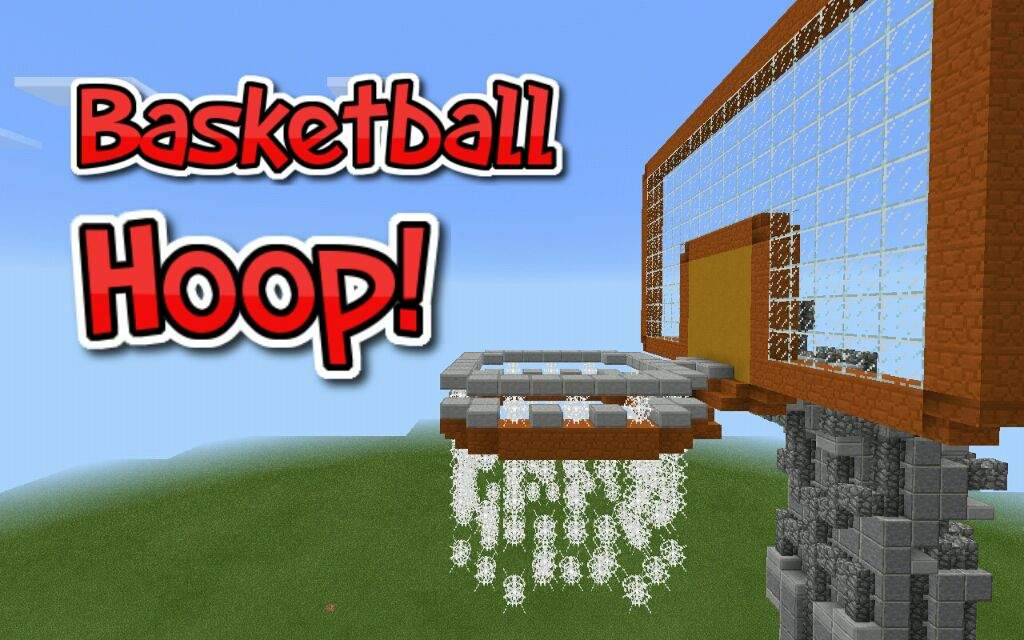 Basketball hoop build minecraft amino for How to build a basketball goal