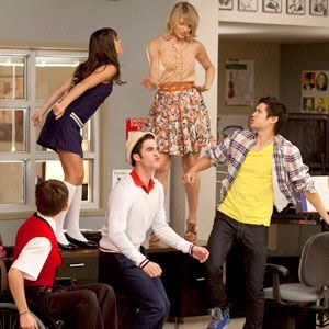 Well told. who is hookup who in glee cast