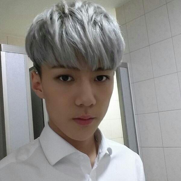 GREY/SILVER Kpop hair! | K-Pop Amino