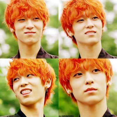 orange kpop hair kpop amino