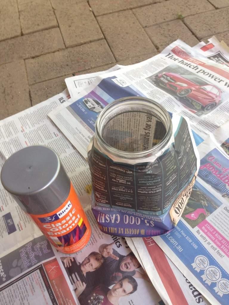 upcycled crafts challenge spare jar candle holder. Black Bedroom Furniture Sets. Home Design Ideas