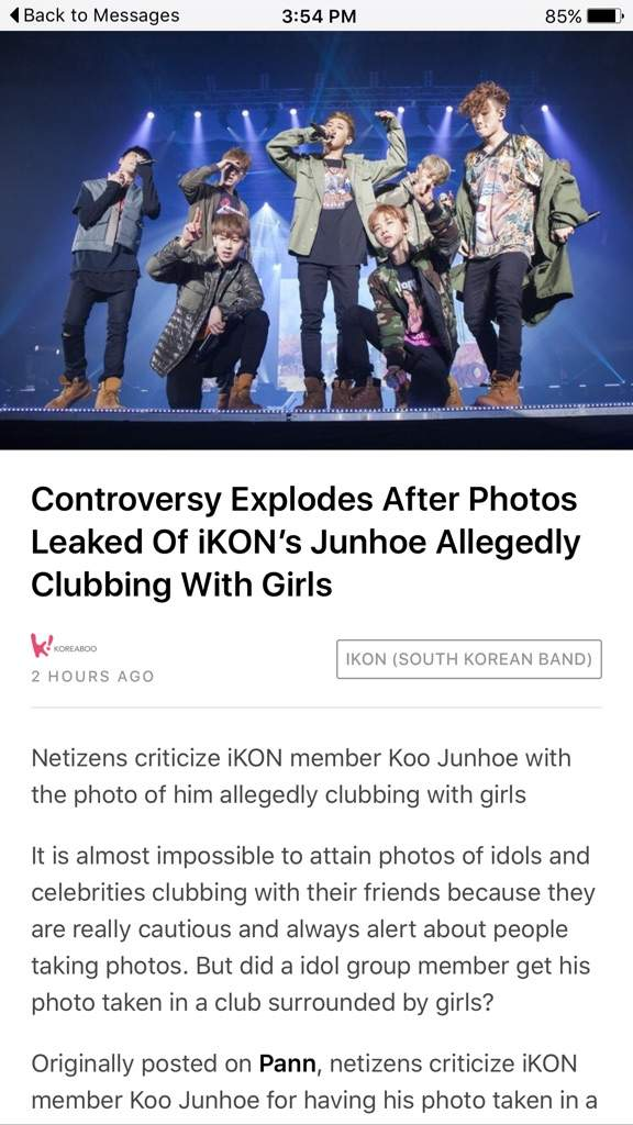Ikon dating scandal