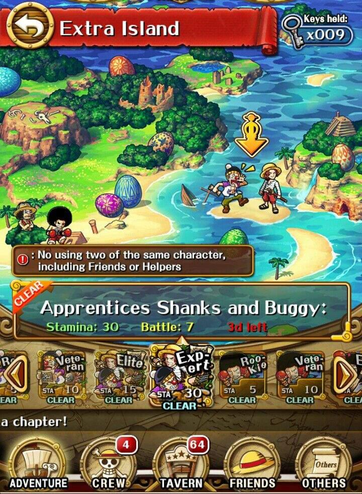 One Piece Treasure Cruise Extra Island Schedule