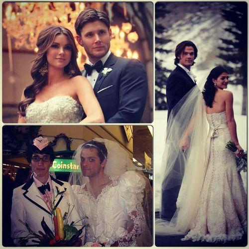 Supernatural (cast) weddings though | Supernatural Amino