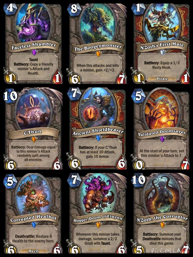 All cards on one card - All The Old God Cards In One Place