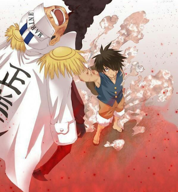 Ace And Luffy Fighting Against Marine Officers: One Piece: Luffy's Final Battle