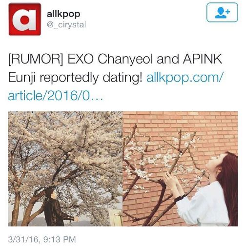 chanyeol and eunji dating apps