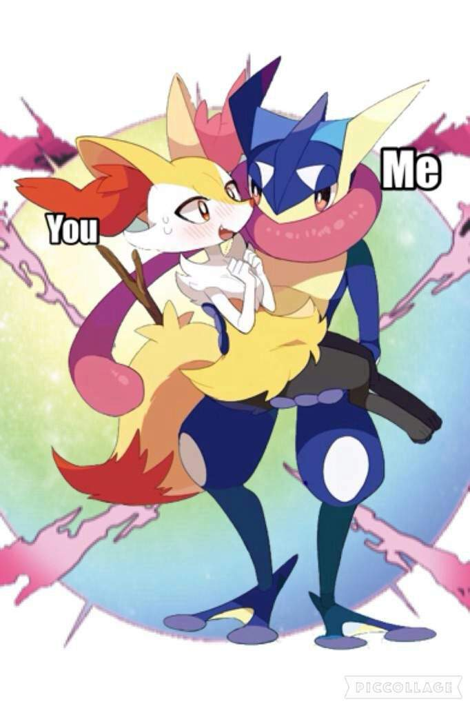 Braixen And Greninja Love on Cute Love Coloring Page Of Two S