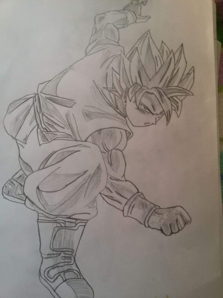 Goku and Vegeta super saiyan blue fight stance draw ...