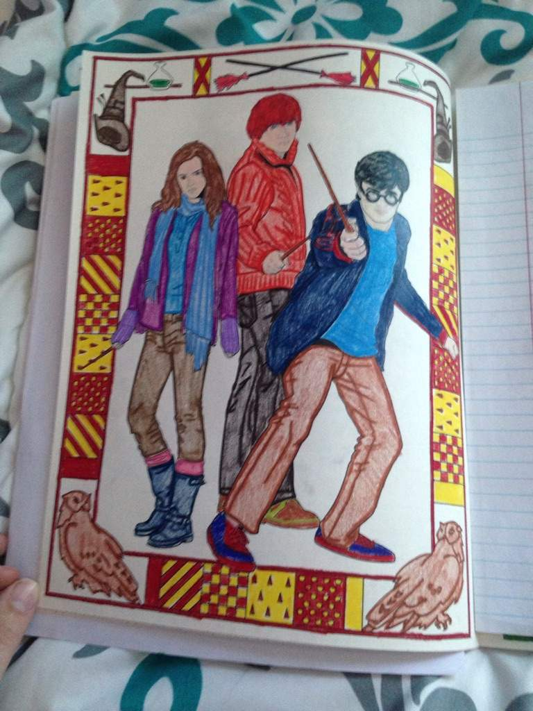 harry ron and hermione coloring pages - my harry potter coloring book harry potter amino